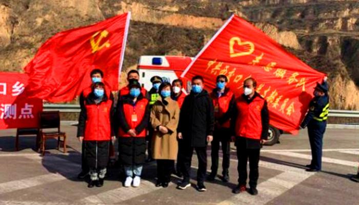 乡宁县西交口乡党员冲锋打头阵 党旗飘扬在一线